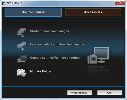 Canon EOS Utility download link for Windows 10 and Mac OS